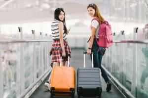 スーツケースの大きさは?小さめのもので十分OK