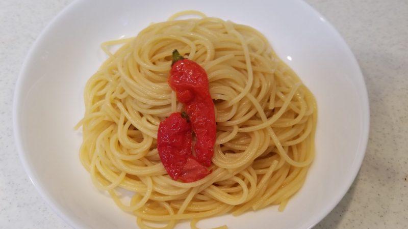 ジョロキア・ペペロンチーノの完成!